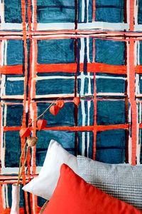 LALIE DESIGN - madras corail - Tissu Au Mètre