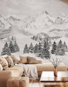 ISIDORE LEROY - les cimes - Papier Peint Panoramique
