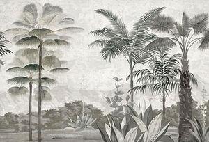 Ananbô - les palmiers de kalaho grisaille patine xviiième - Papier Peint Panoramique