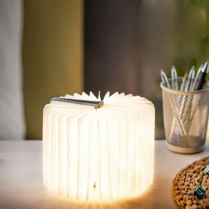 Gingko - mini smart booklight - lampe lin gris 12.5 cm - Lampe À Poser