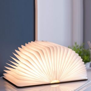 Gingko - smart booklight - lampe noyer 21 cm - Lampe À Poser