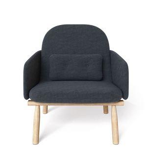 HARTÔ - georges - fauteuil chêne massif et tissu - Fauteuil