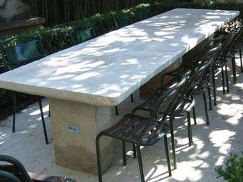 Atelier Alain Edouard Bidal - table rectangulaire ou ronde - Table De Jardin