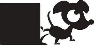 DECOLOOPIO - sticker ardoise : hector qui s'oubli - Sticker Décor Adhésif Enfant