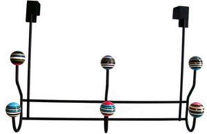 L'AGAPE - patère 6 boules rayées top de porte - Patère