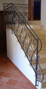 Fer Forge Seno & Siffredi - ringhiera volute e foglie ferro battuto - Rampe D'escalier