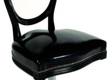 Etc Creations - chaise cul de jatte noire - Chaise Médaillon