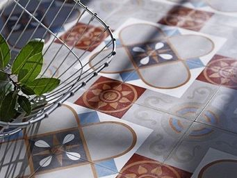 Replicata - zementbodenfliese bl�te stilisiert - Carrelage De Sol