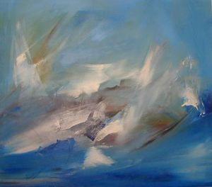 www.maconochie-art.com - marlin catch - Huile Sur Toile Et Huile Sur Panneau