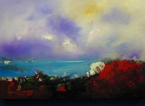www.maconochie-art.com - turtle cliffs - Huile Sur Toile Et Huile Sur Panneau