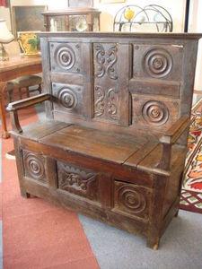Antiquités Braga -  - Banc Coffre