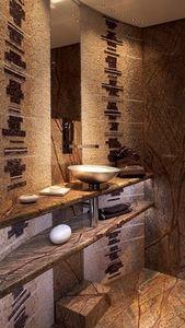 STUC et MOSAIC (mosaique) - salle de bain - Salle De Bains