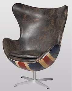 Andrew Martin - hirshorn chair fudge union jack - Fauteuil Rotatif