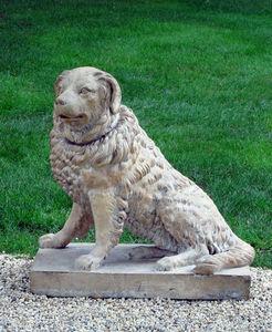 BARBARA ISRAEL GARDEN ANTIQUES - terra-cotta dog - Sculpture Animalière