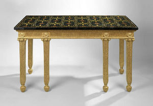F P FINE ART - george iii giltwood side table with italian scagli - Table D'appoint