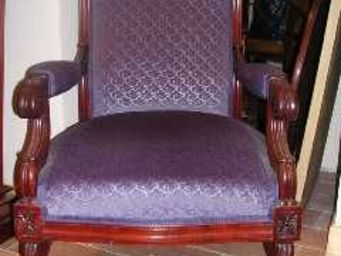 ANTIQUITÉS 95 - fauteuil restauration en acajou,parfait état. - Fauteuil