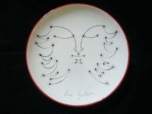 SYLVIA POWELL DECORATIVE ARTS - la genie des bois - Assiette Décorative