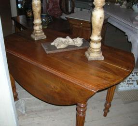 Lola Brocante - table louis philippe - Table À Abattant
