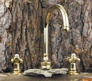 Volevatch - bec bain fixe bistrot avec croisillons - Mélangeur Bain 3 Trous