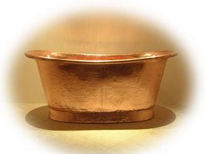 Brass & Traditional Sinks - josephine bathtub/ copper interior - Baignoire Ilot