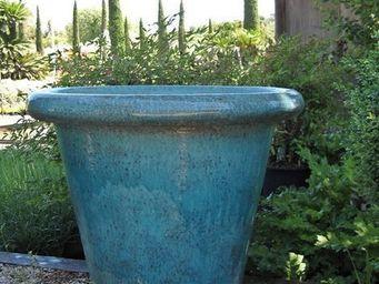 PLANTERS-CONTACT-PROVENCE - pot droit grand turquoise 70cm - Pot De Jardin