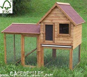 Case des iles - clapier bois duplex à 2 niveaux - Clapier