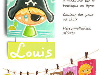 CH'TITE F�E - capitaine bestseller de la collection - Plaque De Porte Enfant