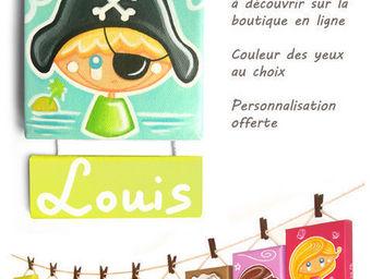 CH'TITE F�E - capitaine bestseller de la collection - Plaque De Porte Enfant