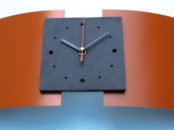 L'HEURE DU DESIGN - horloge design mercure abricot - Horloge � Poser