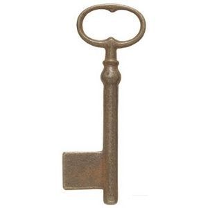 FERRURES ET PATINES - clef en fonte vieilli style louis xiv, regional - Clé De Meuble
