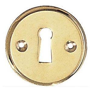 FERRURES ET PATINES - entree de clef ronde en laiton pour porte d'entre - Entrée De Meuble