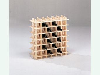 BARCLER - casier à vin en bois 36 bouteilles 71,5x22x71,5cm - Casier À Vin