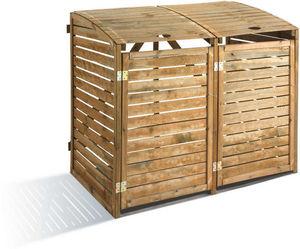 JARDIPOLYS - cache-poubelles 1366 litres à adosser 150x90x125cm - Cache Poubelle