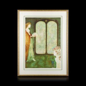 Expertissim - leonor fini. deux femmes devant la fenêtre - Estampe