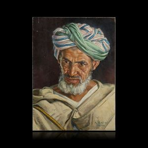 Expertissim - louis john endres. the striped turban - Portrait