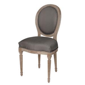 Maisons du monde - chaise anthracite louis - Chaise M�daillon