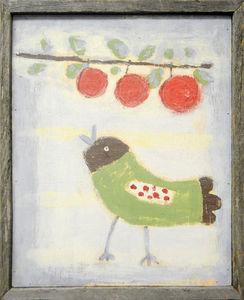 Sugarboo Designs - art print - bird with cherries - Tableau D�coratif