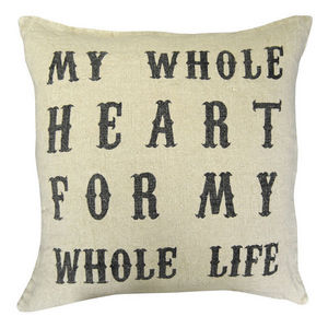 Sugarboo Designs - pillow collection - script my whole heart - Coussin Carr�