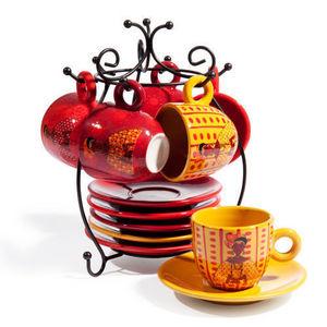 Maisons du monde - support 6 tasses et soucoupes tanaka - Porte Tasses