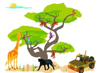 LILI POUCE - sticker safari kit de 12 stickers - Sticker D�cor Adh�sif Enfant