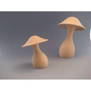 LITTLE BOHEME - champignon en bois tournée promenons-nous dans les - Jouet En Bois