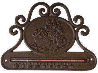 Antic Line Creations - thermomètre de jardin horizontale en fonte 25x18cm - Thermomètre