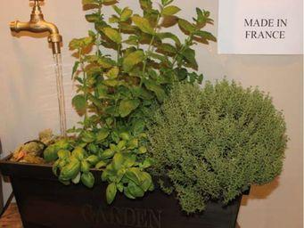 Le Pere Pelletier - fontaine jardini�re garden avec robinet en l�vitat - Fontaine D'int�rieur