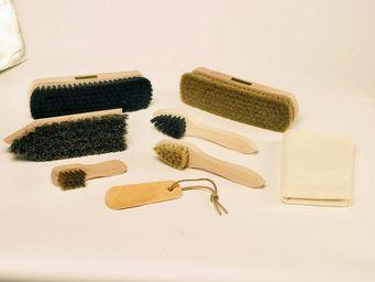Redecker - set de nettoyage à chaussures avec présentoir en m - Plumeau