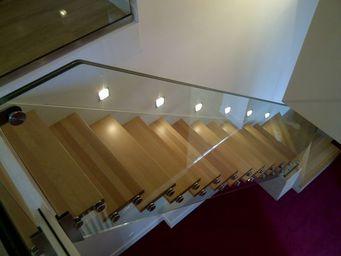 TRESCALINI - skystep : escalier quart tournant en bois - Escalier Un Quart Tournant