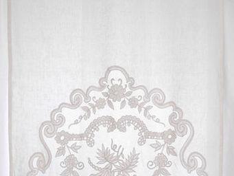 Coquecigrues - mini rideau borgia ivoire - Rideaux Pr�ts � Poser