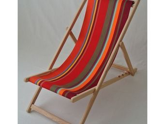 Les Toiles Du Soleil - chilienne collioure rouge - Transat
