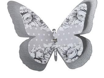Mathilde M - papillon double � pince guirlande - D�cor �v�nementiel