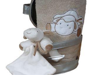 SIRETEX - SENSEI - vanity + 1 serviette brod�e + 1 doudou - Serviette De Toilette Enfant