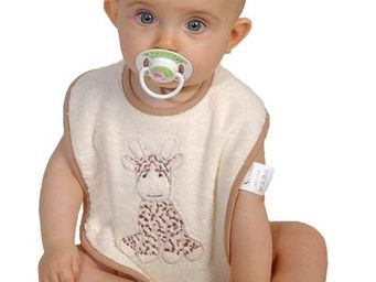 SIRETEX - SENSEI - bavoir bébé scratch brodé lili la girafe - Bavoir
